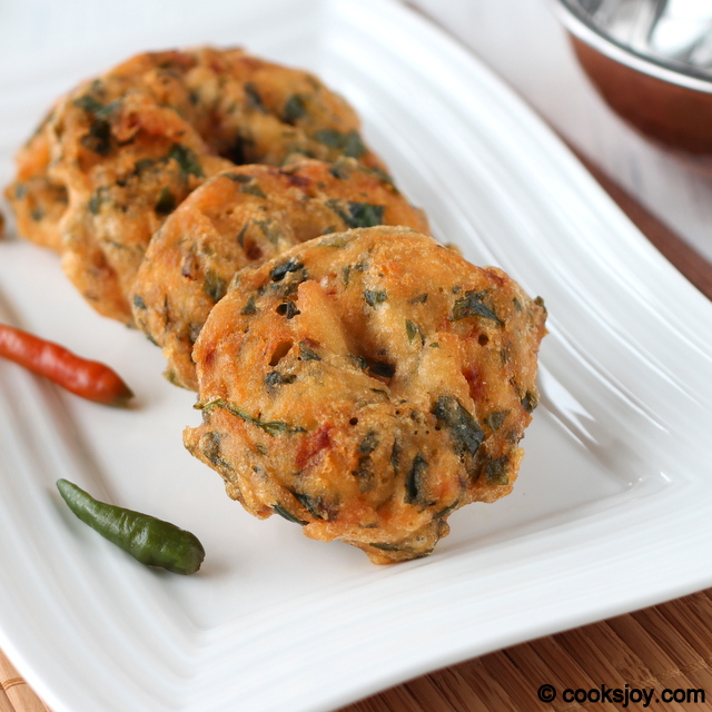 Keerai Vada (Ulundhu Vadai) | Cooks Joy