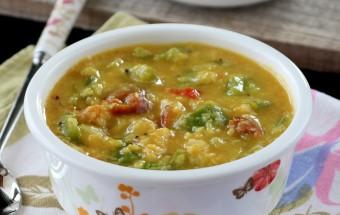 Green Capsicum (Bell Pepper) Dal Gravy | Cooks Joy