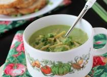 Capsicum Spring Onion Noodle Soup