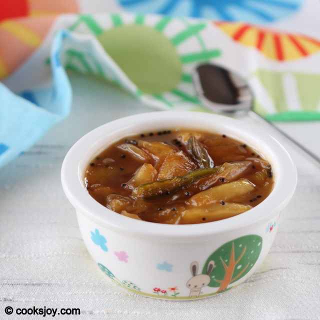 Mango Pachadi (Raw Mango Chutney) | Cooks Joy