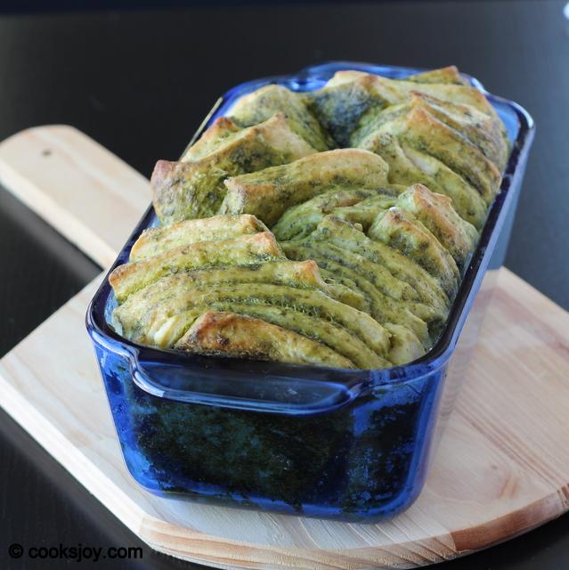 Cilantro Pesto Pull Apart Bread | Cooks Joy