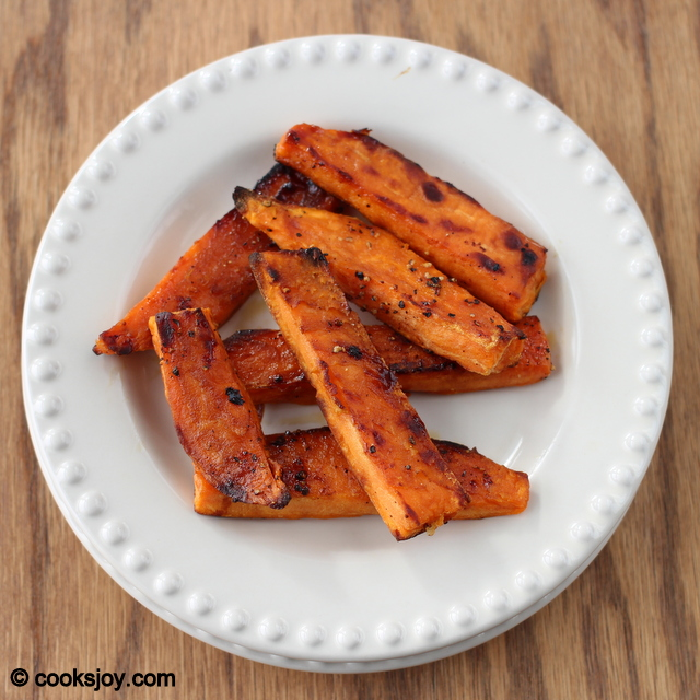 Baked Sweet Potato Wedges (Fries)| Cooks Joy