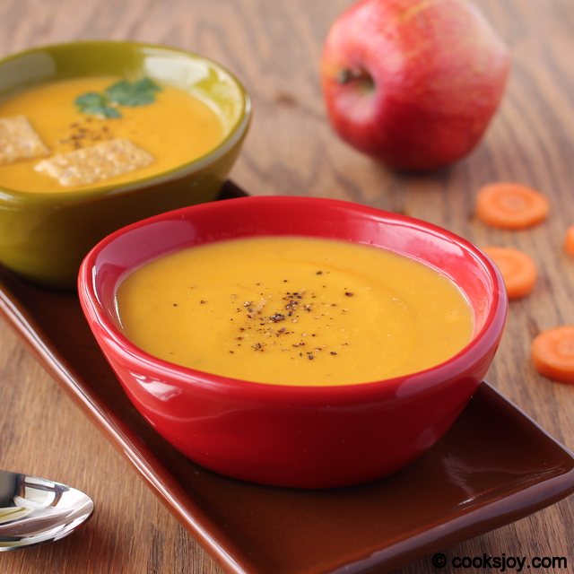 Carrot Apple Ginger Soup | Cooks Joy