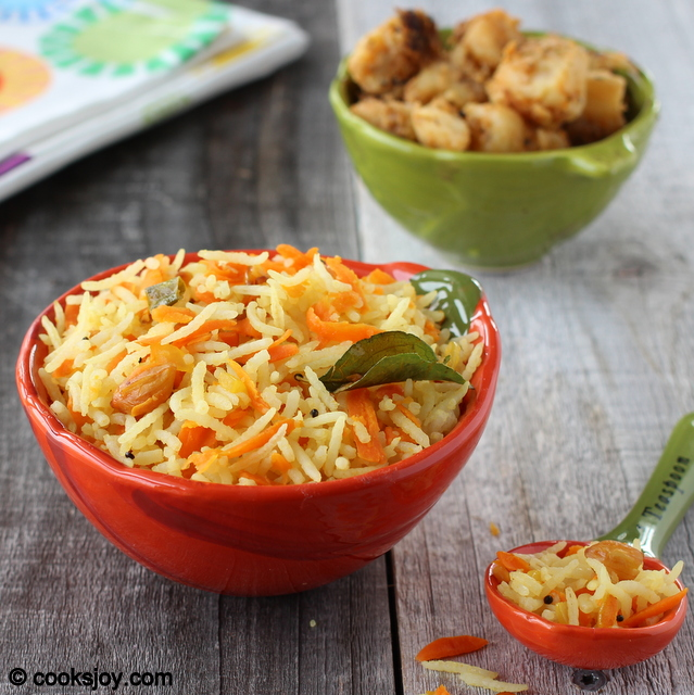 Carrot Rice with Lemon Juice | Cooks Joy