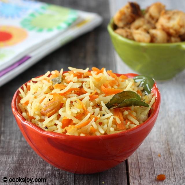 Carrot Lemon Rice | Cooks Joy