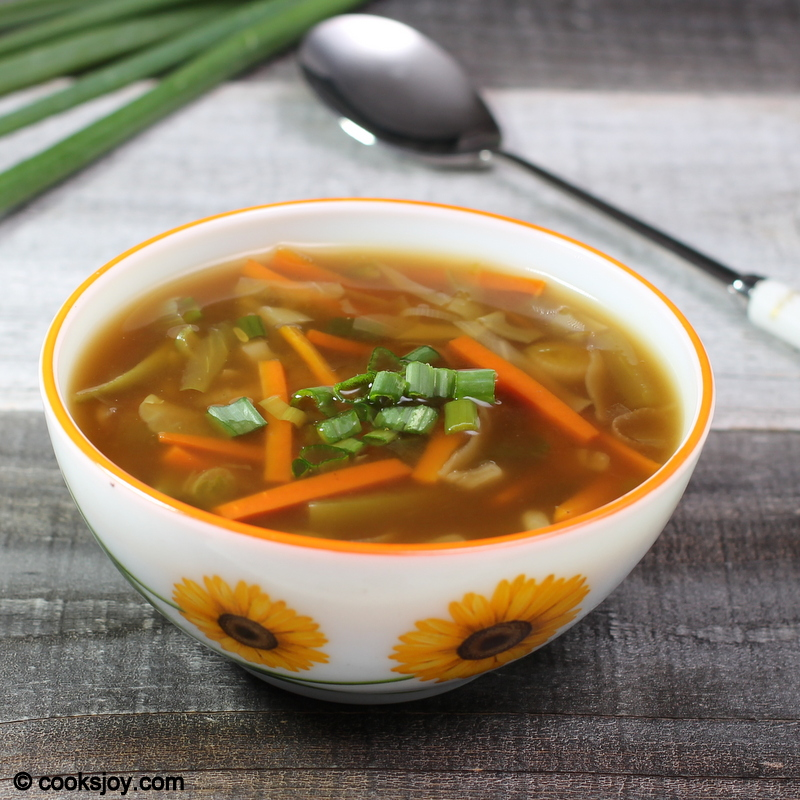 Cooks Joy - Chinese Vegetable Soup (Hot and Sour Soup)