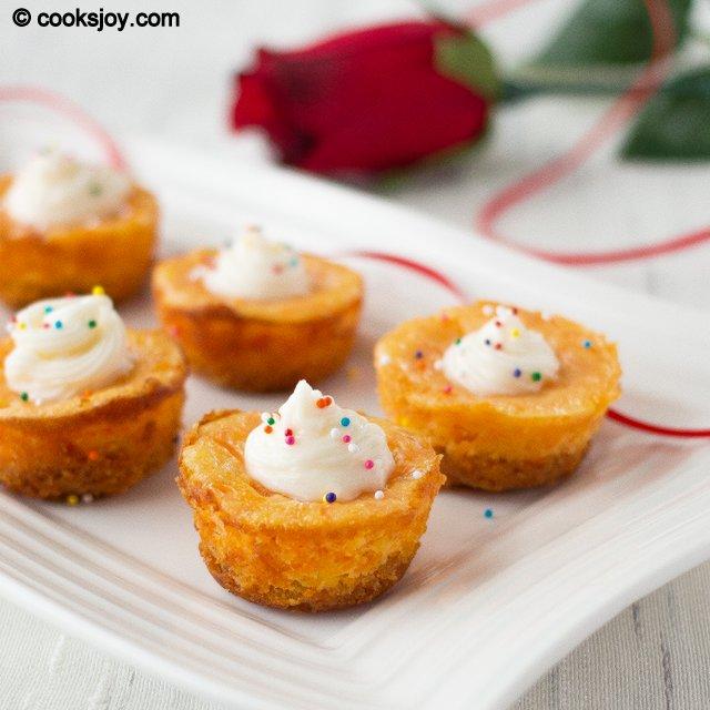 Mini Carrot Cheesecake | Cooks Joy