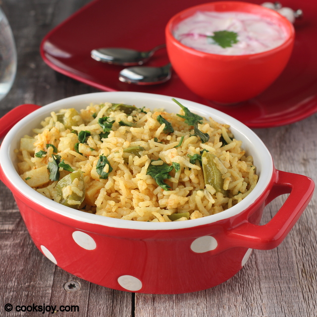 Potato Bell Pepper Pulao | Cooks Joy