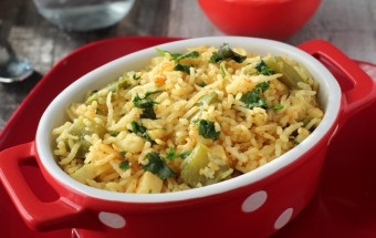 how to prepare capsicum rice bath