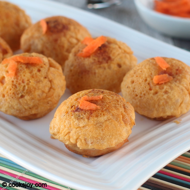 Carrot Paneer Bonda | Cooks Joy