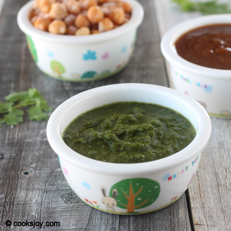 Green Chutney for Chaat | Cooks Joy