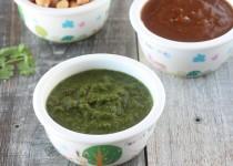 Chaat Chutneys: Green Chutney and Tamarind Chutney