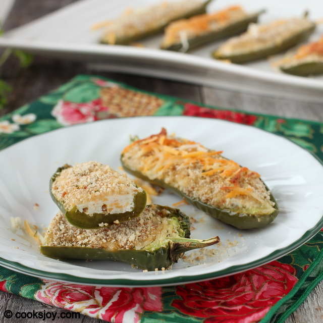 Low Fat Jalapeno Poppers using Greek Yogurt | Cooks Joy