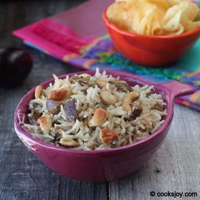Vanki/Vangee Bath (Brinjal Rice)