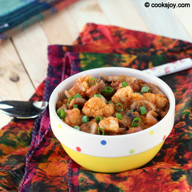 Gobi Mushroom Curry | Cooks Joy