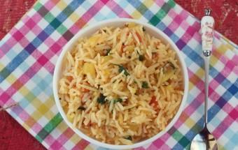 Tomato Rice (Lunch box recipe) | Cooks Joy