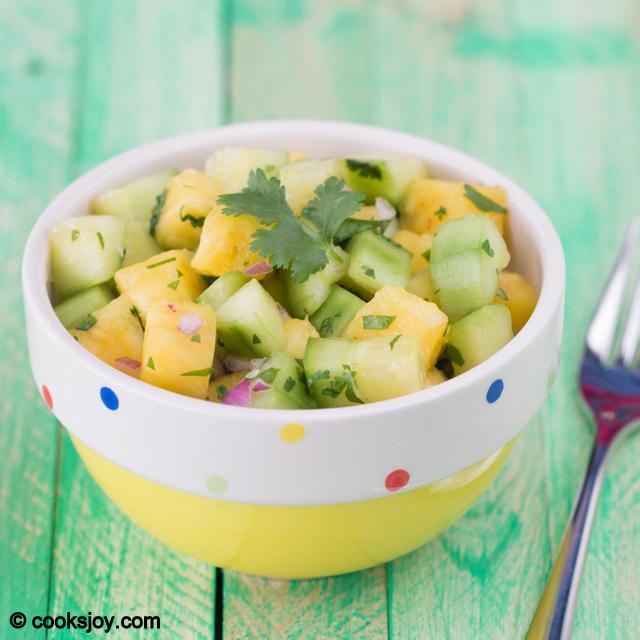Cucumber Pineapple Salad | Cooks Joy