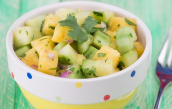 Simple Cucumber Pineapple Salad | Cooks Joy