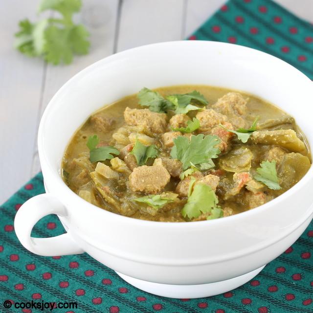 Soya Chunks Kuruma | Cooks Joy