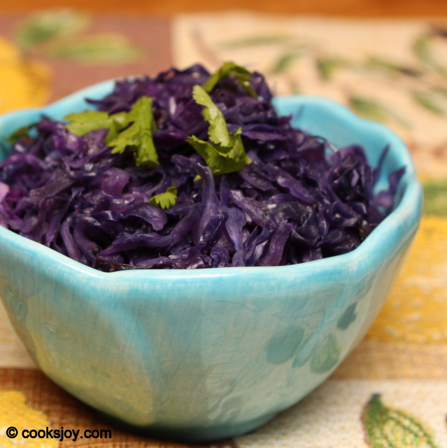 Purple Cabbage Poriyal | Cooks Joy