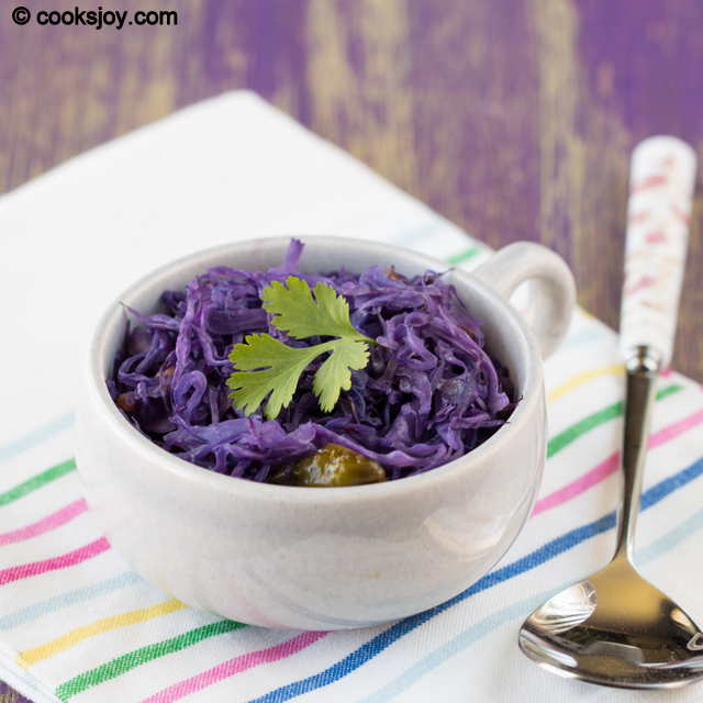 Purple Cabbage Poriyal (Curry) | Cooks Joy
