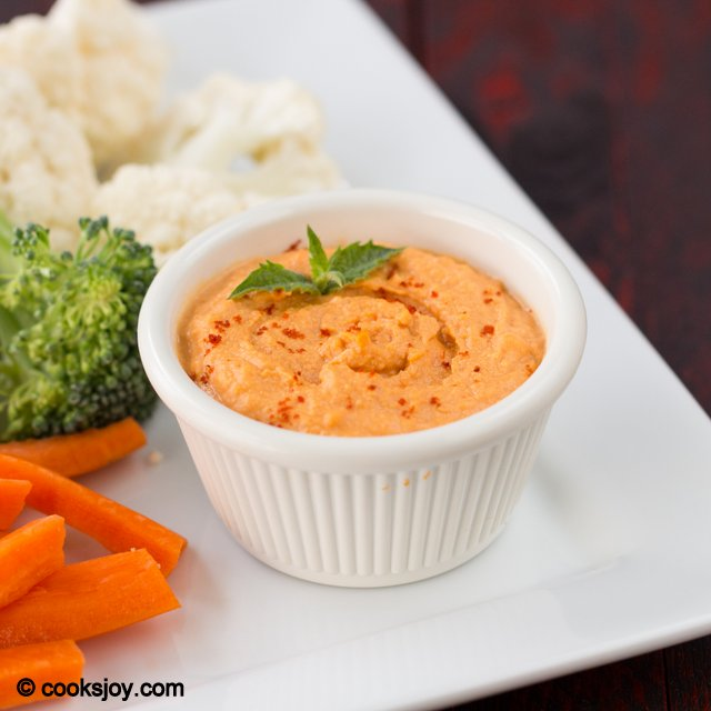 Red Bell Pepper Hummus | Cooks Joy