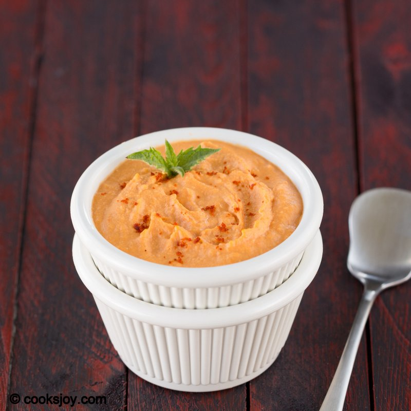 Cooks joy roasted red bell pepper hummus for Roasted red bell pepper hummus