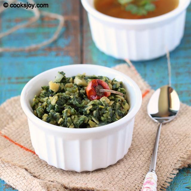 Spinach (Keerai) Dal Poriyal | Cooks Joy