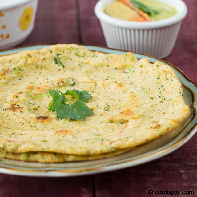 Brown Rice and Broccoli Adai | Cooks Joy