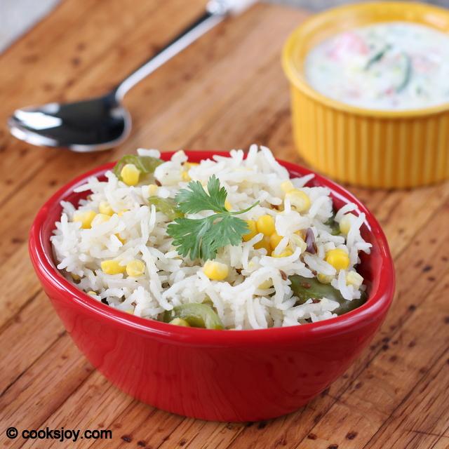 Corn Capsicum Rice | Cooks Joy