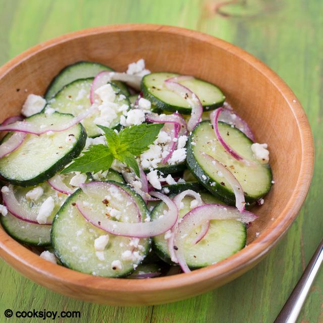 Cucumber Feta Salad | Cooks Joy