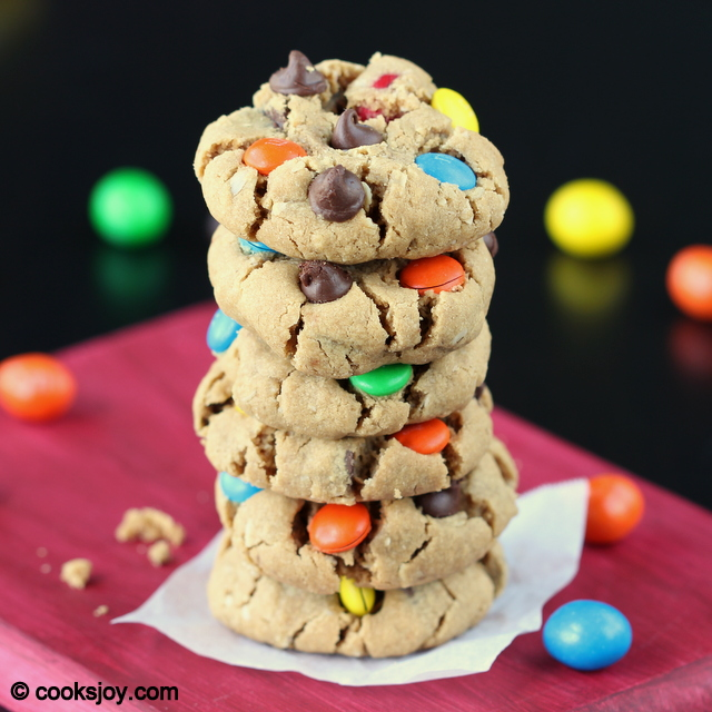 Soft Monster Cookies | Cooks Joy