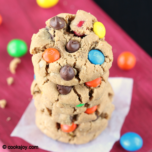Soft-Baked Monster Cookies | Cooks Joy