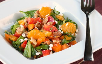 Spinach Colored Pepper Salad   Cooks Joy