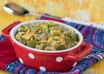 Capsicum Paruppu Usili (Bell Pepper Lentil Curry)