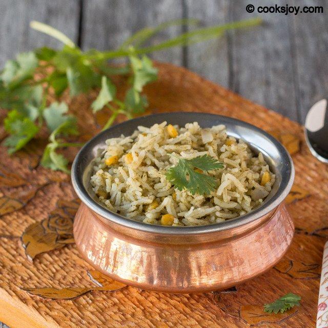 Cilantro Lentil Rice | Cooks Joy
