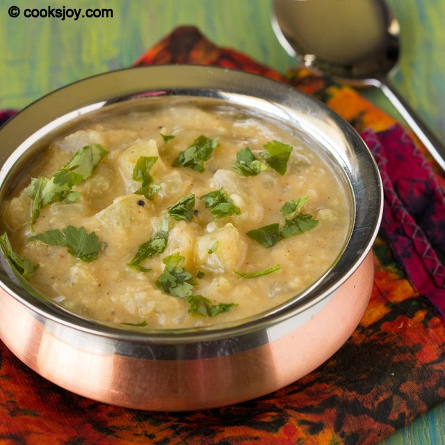 Cucumber Lentil Gravy (Kootu) | Cooks Joy