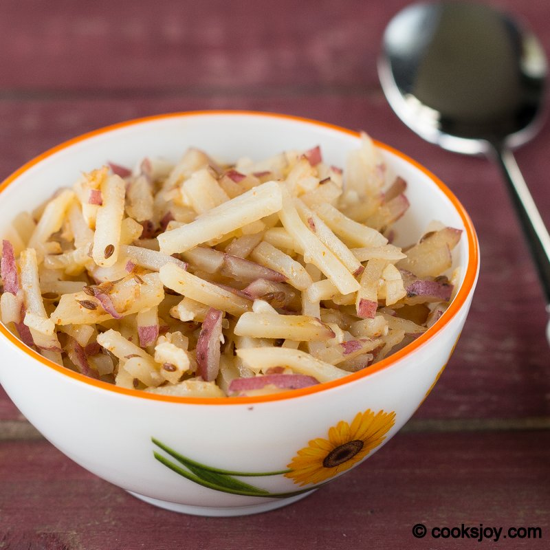 Potato Fry with Garlic   Cooks Joy