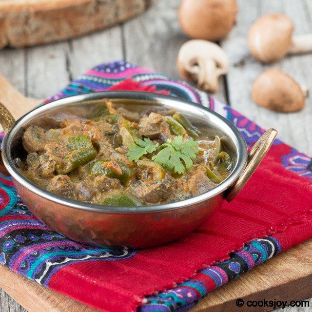 Kadai Mushroom | Cooks Joy