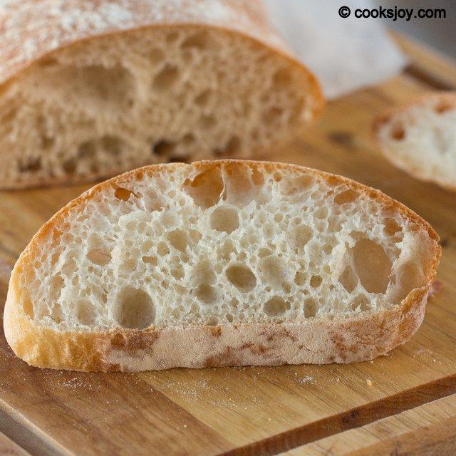 Quick Ciabatta Bread | Cooks Joy