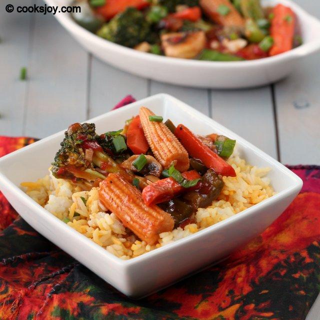 Vegetables in Hot Garlic Sauce | Cooks Joy