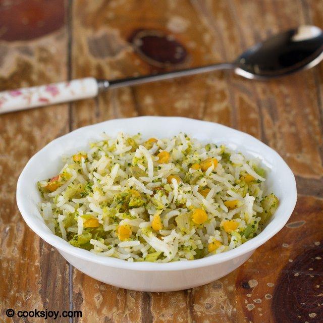 Broccoli Channa Dal Rice | Cooks Joy