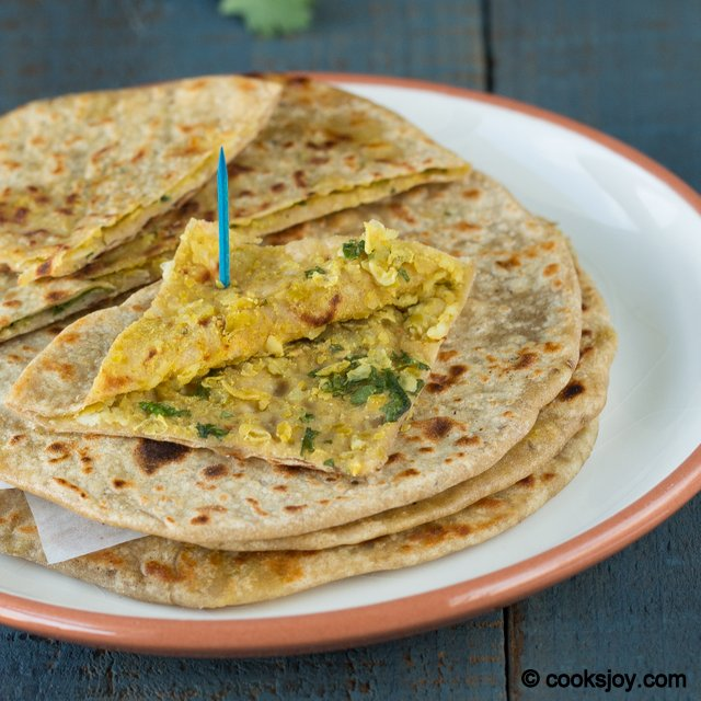 Peas Paneer Paratha | Cooks Joy