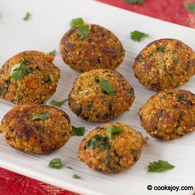 Healthy Quinoa Spinach Bites | Cooks Joy