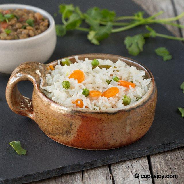 Simple Vegetable Rice | Cooks Joy