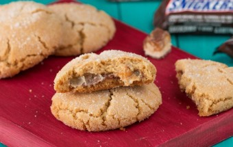 Snicker Bar Peanut Butter Cookies | Cooks Joy