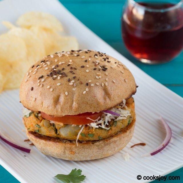 Potato Patty Burger | Cooks Joy