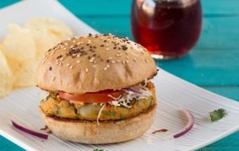 Aloo Tikki Burger | Cooks Joy