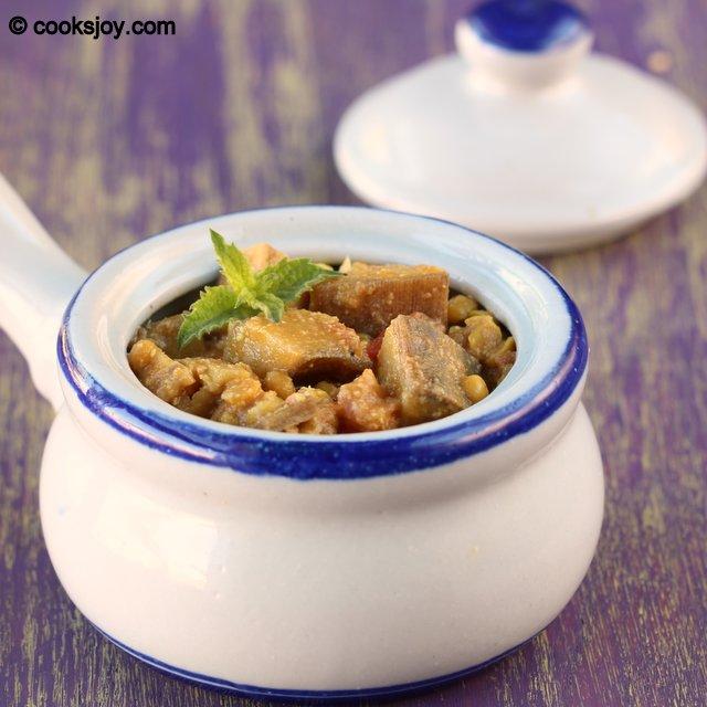 Plantain - Channa Dal Kuruma | Cooks Joy