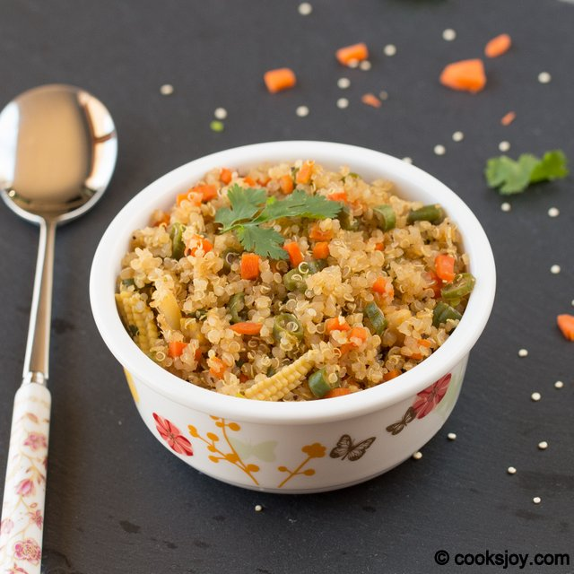 Fried Quinoa | Cooks Joy